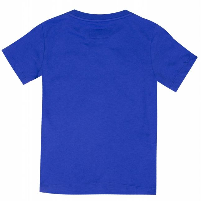 Boys Bright Blue Branded Chest S/s T Shirt
