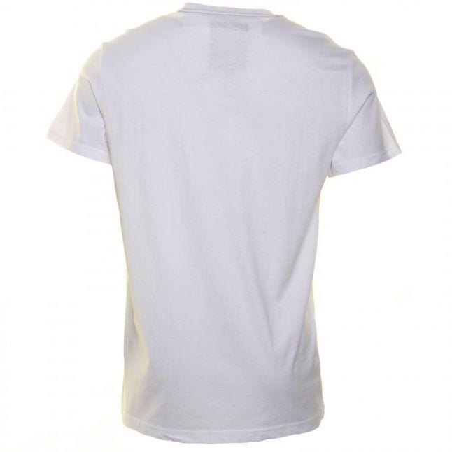 Mens White Beamrac Crew S/s Tee Shirt