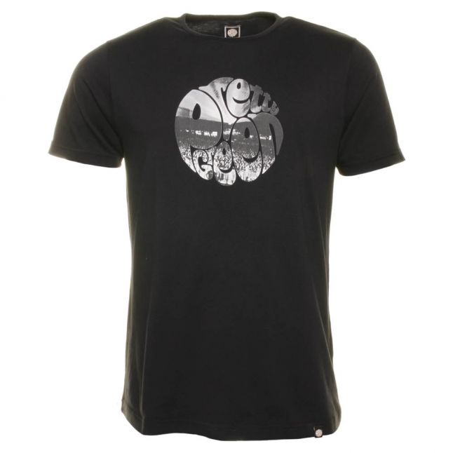 Mens Black Crowd S/s Tee Shirt