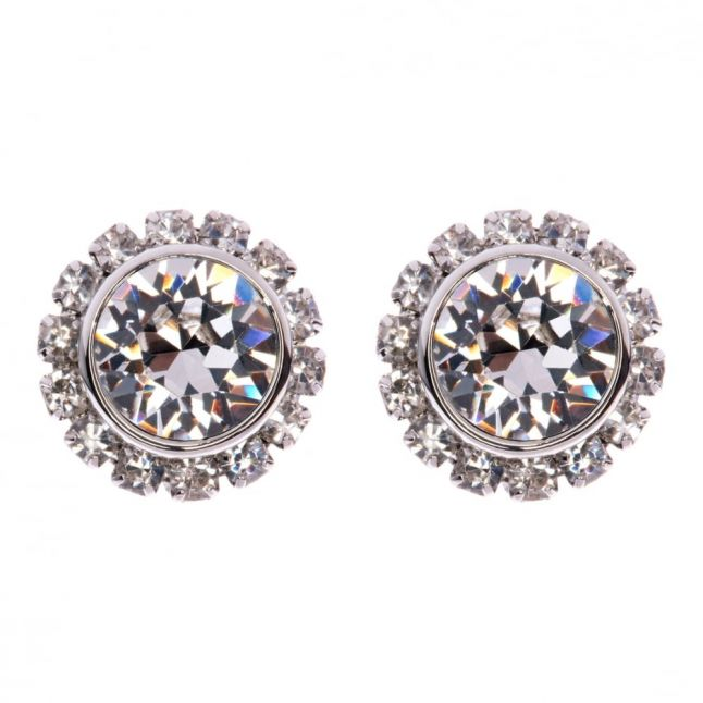Womens Silver Sully Crystal Studs