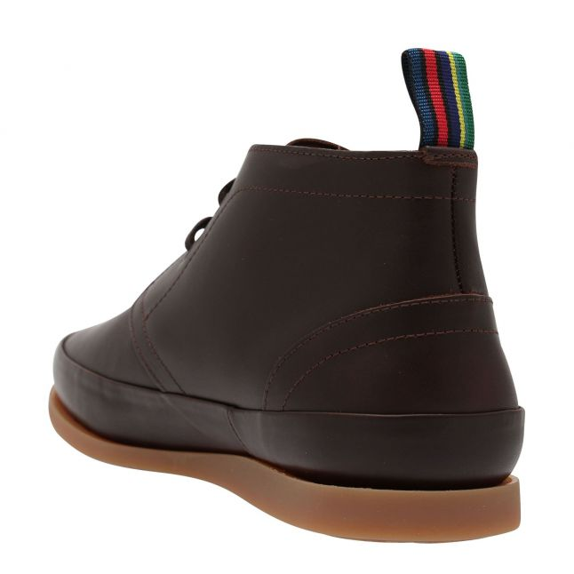 Mens Chocolate Cleon Leather Ankle Boots