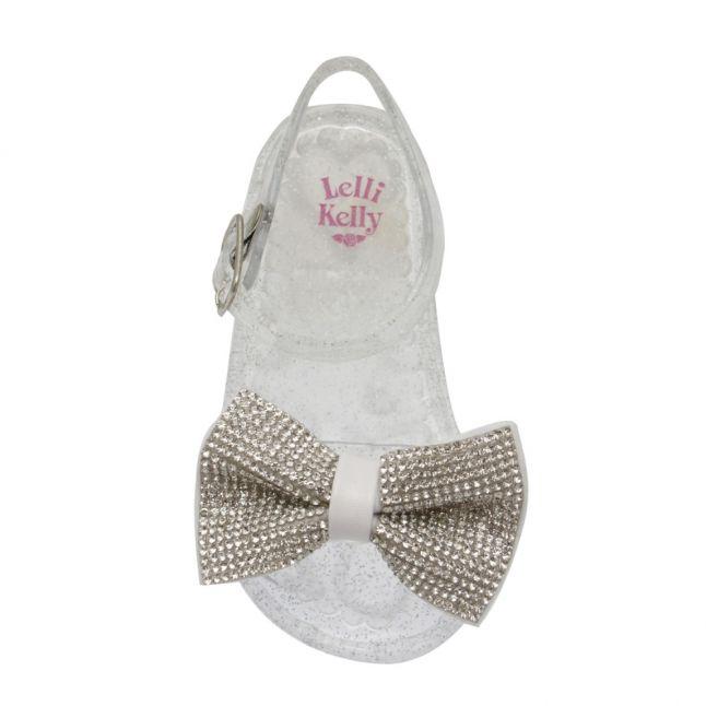 Baby Clear Glitter Dalia Bow Sandals (22-27)